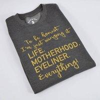 'Winging It' Motherhood Slouchy Sweatshirt