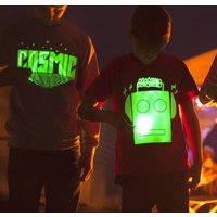 Cosmic Glow In The Dark Interactive Kids T Shirt