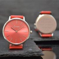 Red Personalised Ladies Wrist Watch