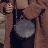 Personalised Leather Round Bag