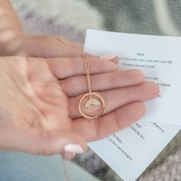 Rainbow Necklace With Love Circle And Messages