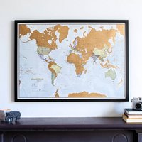 Scratch The World  Framed