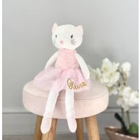 Personalised Cat Knitted Soft Toy