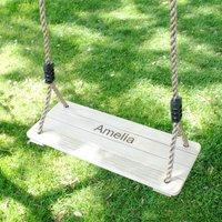 Kids Personalised Wooden Swing