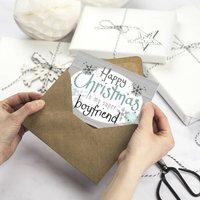 Happy Christmas Boyfriend Card