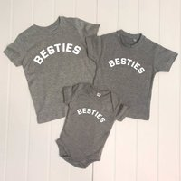 Besties Three Siblings Three T Shirt Set