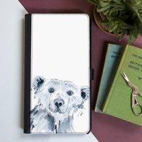 Inky Polar Bear Flip Phone Case