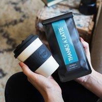 Thanks A Latte Reusable Cup And Personalised Coffee