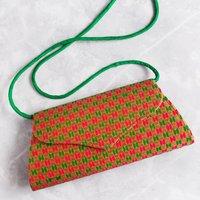 Goa Brocade Clutch Bag Green Pink