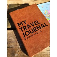 Personalised Travel Journal 2020 Diary Luxury Leather, Chocolate/Russet/Red