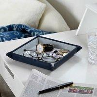 Personalised Pop Up Large Luxury Leather Valet Tray