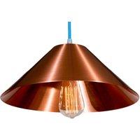 Copper Coolie Stanley Pendant Light, Purple/Black/White