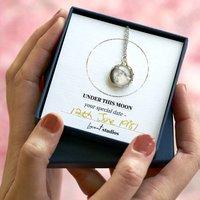 Personalised Custom Moon Phase Necklace