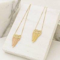 Gold Brickmoon Necklace, Gold