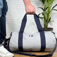 Personalised Mens Weekend Bag. Holdall With Initials