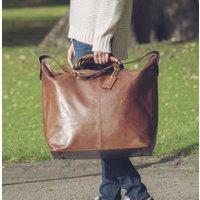 Personalised Large Leather Luggage Bag Fabrizio