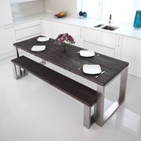 Kingston Square Shaped Stainless Steel Dining Table