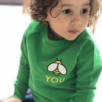 'Bee You' Embroidered Organic Children's Sweatshirt