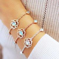 Trinity Love Knot Bracelet, Silver/Gold/Rose Gold