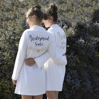 Personalised Cotton Wedding Robe
