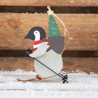 Skiing Penguin Christmas Tree Decoration