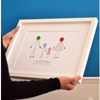 Personalised Family Button Print Unframed