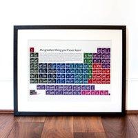 Romantic Films Periodic Table Art Print