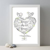 Personalised Couples New Home Name Gift Print
