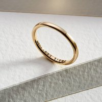 Personalised 9ct Gold Slim Wedding Ring, Gold