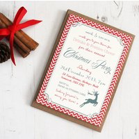 Personalised 'Christmas Party' Invitations