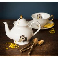 Kissing Couple Small Bone China Teapot