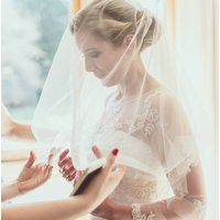 Elisa Cut Edge Wedding Veil