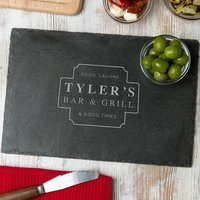 His Bar And Grill Personalized Serving Board