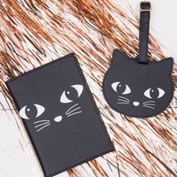 Cat Face Passport Holder And Luggage Tag