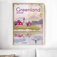 Greenland Landmarks Art Print