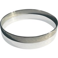 Solid Silver Hammered Silver Bracelet, Silver