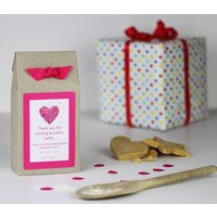 Personalised Heart Shortbread Biscuit Mix Party Bags