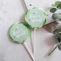 Love Is Sweet Pastel Wedding Favour Giant Lollipops
