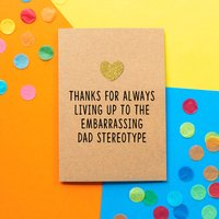 'Embarrassing Dad' Funny Father's Day Card
