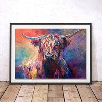Highland Cow By Sue Gardner Fine Art Print