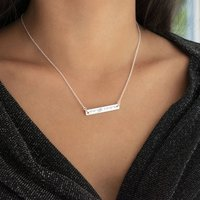 Sterling Silver Coordinate Necklace, Silver