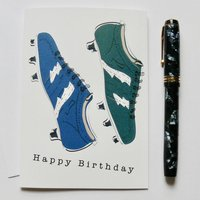 Football, Rugby Boot Birthday Card