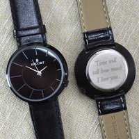 Engraved Ladies Wrist Watch Offset Dial