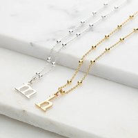 Personalised Satellite Chain Initial Necklace