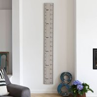 Wooden Ruler Growth Chart In White, Grey And Putty, White/Grey