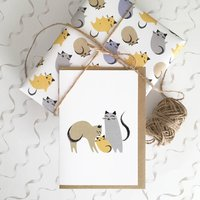 New Parents Card And Kitten Wrapping Papers