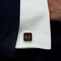 Personalised Mahogany Cufflinks