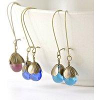 Vintage Water Lily Earrings