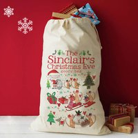 Personalised Family Christmas Eve Sack