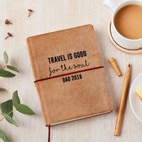 Personalised Good For The Soul Leather Travel Journal